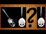 Как сделать классную чайную ложку в виде черепа своими рукамиDIY skull shaped spoon