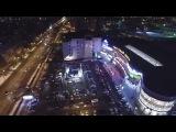 Лазерная реклама в Перми, съемка с воздуха.
