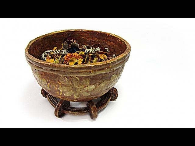 Reciclaje Cuenco decorativo para perfumar. Recycling decorative bowl to perfume.