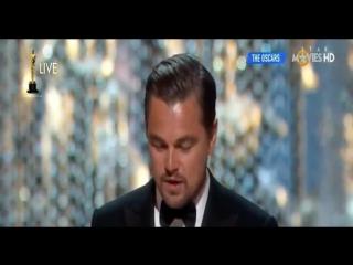 Leonardo DiCaprio Wins The Oscar (HD) Best Actor (climate change speech)