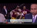 Cleveland Cavs dance team videobombs Stephen A Smith during postgame