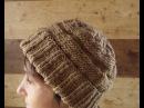 Шапка вязаная спицами Вязание шапки на круговых спицах Knitting Hobby