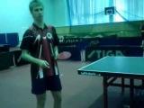 Настольный теннис  урок передвижение ног
