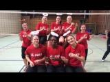 Волейбольная команда из Штутгарта с новогодним настроением
