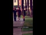(2)August 14: Fan taken video of Justin and Sofia Richie in LA.