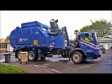 Garbage Trucks On Route, In Action!
