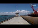 Появилось видео первой поездки по Керченскому мосту