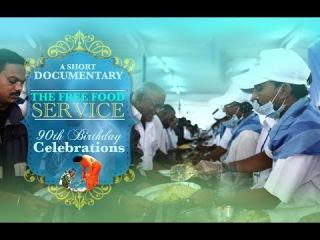 The Free Food Service during the 90th Birthday Celebrations of Bhagawan Sri Sathya Sai Baba