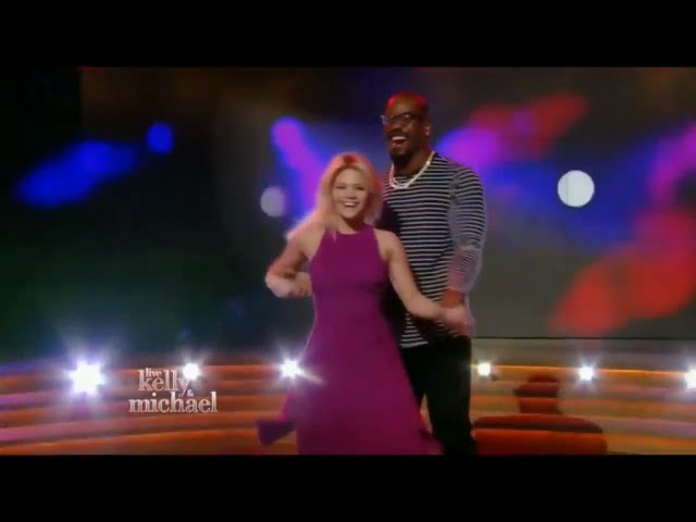 Von Miller and Witney Carson interview on Live! with Kelly and Michael April 20, 2016 - DWTS