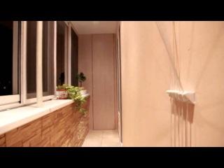 Максимус Окна   Варианты использования декоративного камня в отделке на примере большого балкона  b4