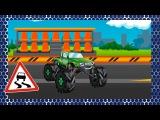 ✔ Araba çizgi filmleri. Akıllı Arabalar - Yarış arabası, Monster Truck, Kamyon. Eğitici çizgi film
