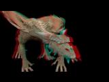 Дракон в 3D. Анаглифная зарядка для глаз.