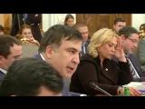 Саакашвили и Аваков на Раде реформ