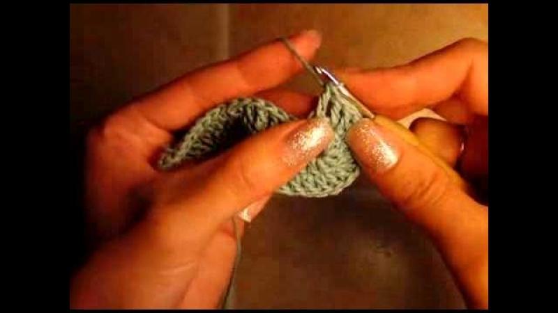 2 Как связать пинетки сандали, подошва, 2 ряд