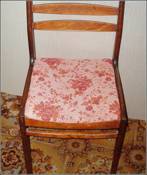 Как обшить старый стул своими руками 662