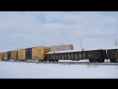 Great Action and 4 Railways on the CN Rivers Subdivision CN, BNSF, CEMR, VIA (02152016)