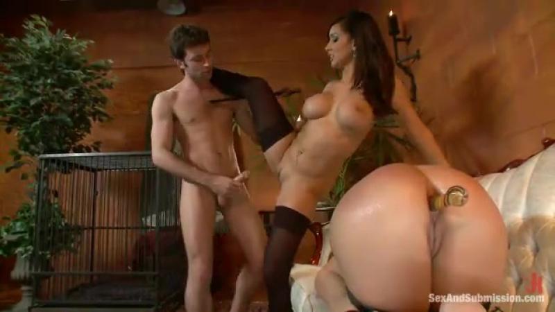 [BDSM]Пара издевается над рабыней (жмж, бдсм, bdsm, втроем, жестко, трах, порно, оргазм)