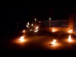 Фаер шоу Flagro (г. Ростов-на-Дону) огненный обруч