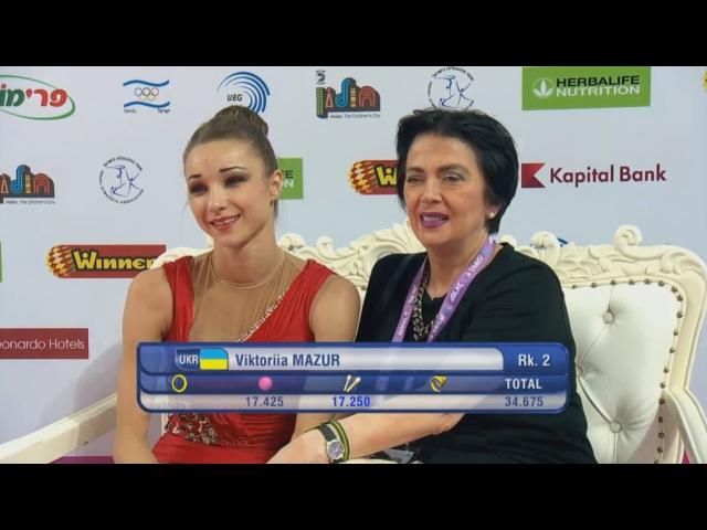 Viktoriia Mazur Clubs AA - European Championships Holon 2016