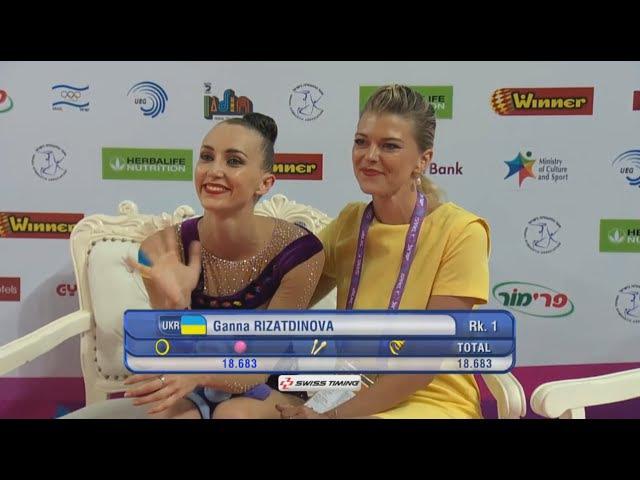 Anna Rizatdinova Ball AA - European Championships Holon 2016
