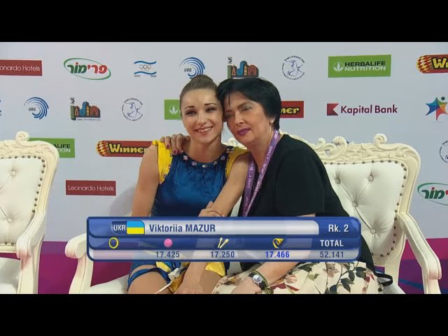 Viktoriia Mazur Ribbon AA - European Championships Holon 2016