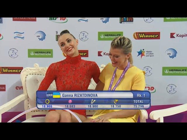 Anna Rizatdinova Hoop AA - European Championships Holon 2016