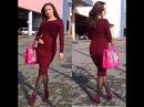 Бесплатный МК часть 1 облегающее платье спицами Марсала: вяжем резинку
