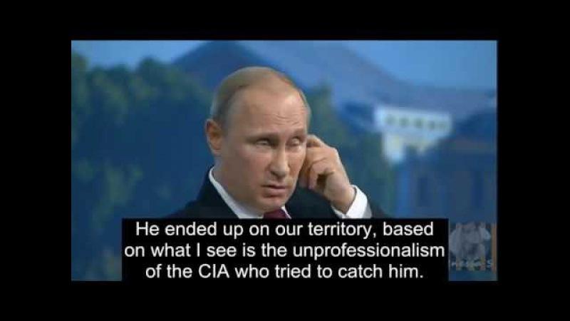 Putin Ridicules CIA on Edward Snowden