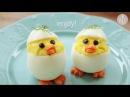 Food - Пасхальный цыпленок из яйиц, блюдо из яиц Easter chick devilled eggs HD