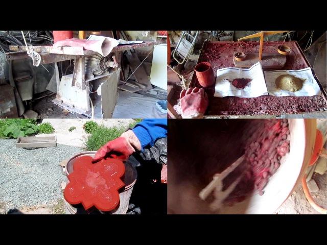 Тротуарная плитка своими руками. Полное описание процесса в одном видео.