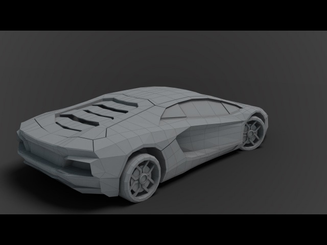 Modeling low poly Lamborghini 3DS Max beginner tutorial part - 1