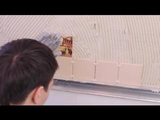 Как клеить плитку на стену на кухне. Кафель. Керамогранит