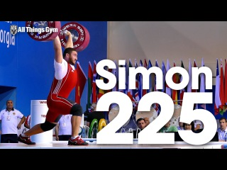 Simon Martirosyan (109.9kg, Armenia, 19y/o) 225kg Clean and Jerk 2016 Junior Worlds