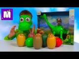 Хороший динозавр маска и игрушки сюрпризы в яйцах Good Dinosaur mask and toys in surprise eggs