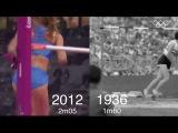 Олимпийские победы в женских прыжках в высоту с разницей в 76 лет!
