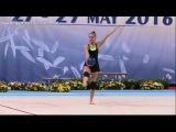 Арина Аверина мяч (опробование) - Кубок Мира София 2016