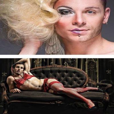 переодевание мужчины в женщину макияж одежда порно фото