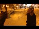 Ангина и шапка вся в снегу
