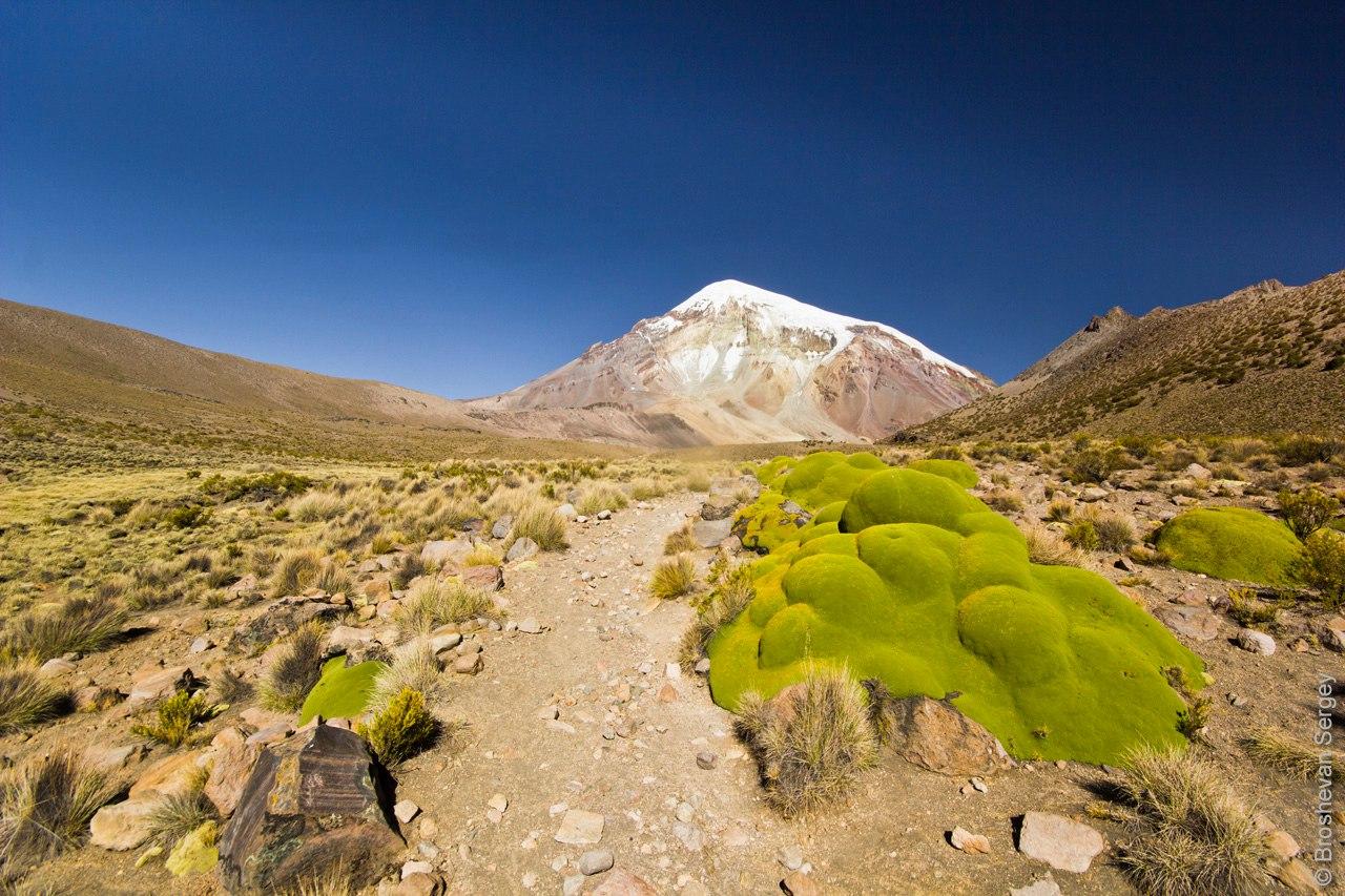 старт маршрута восхождения на вулкан Сахама