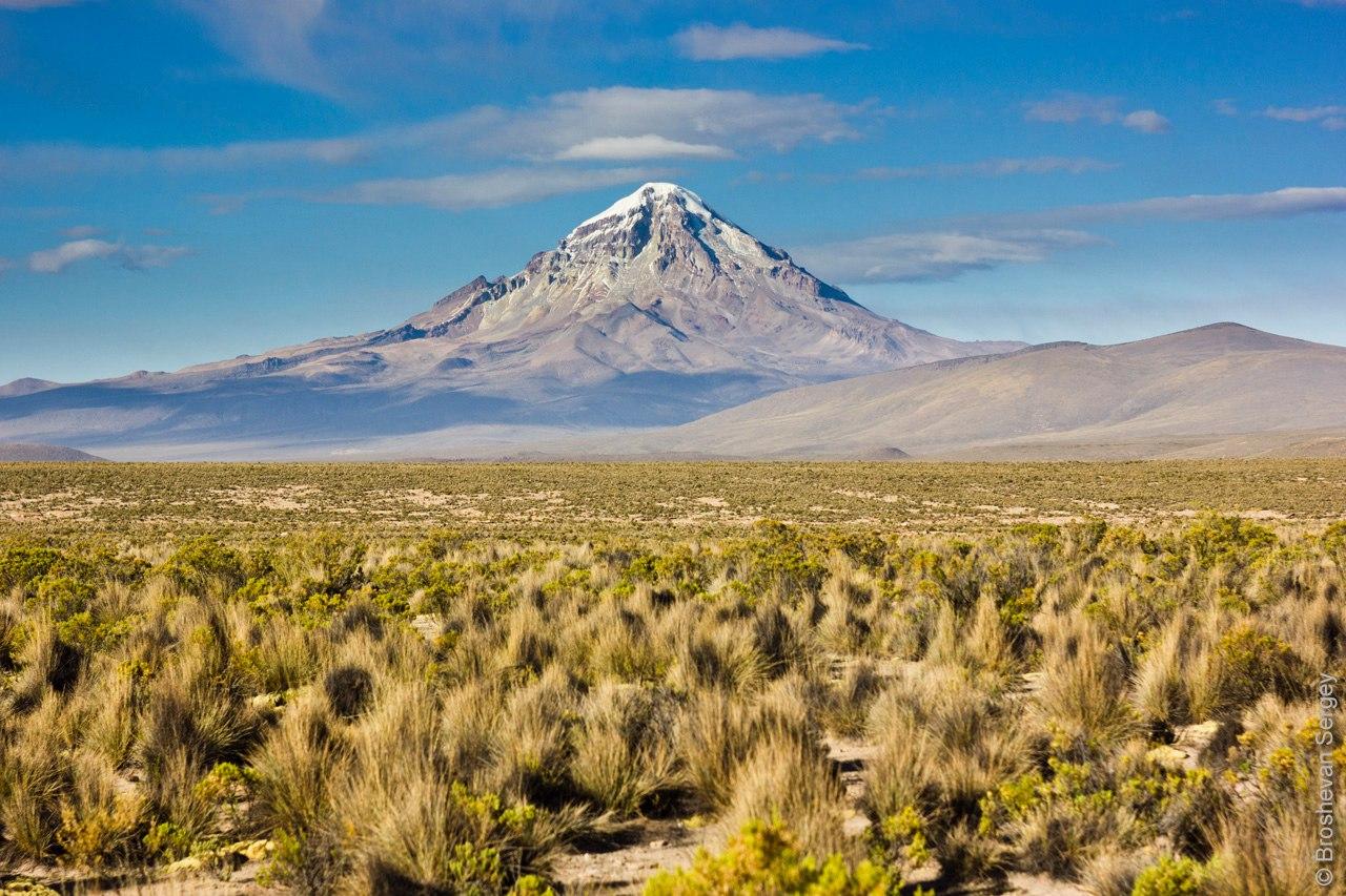 вид на Вулкан Сахама с плато