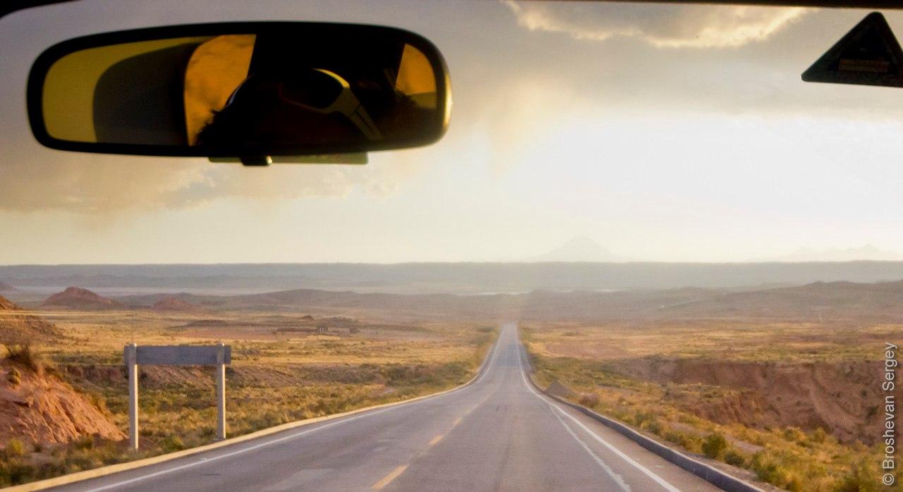дорога к вулкану Сахама