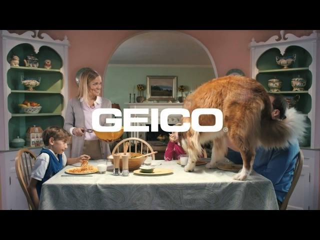 Реклама GEICO семейный ужин Лучшие видео ролики от AdvBlog net