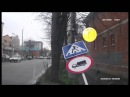 Самое смешное автовидео, ДТП на 1 апреля, пешеход vs знак