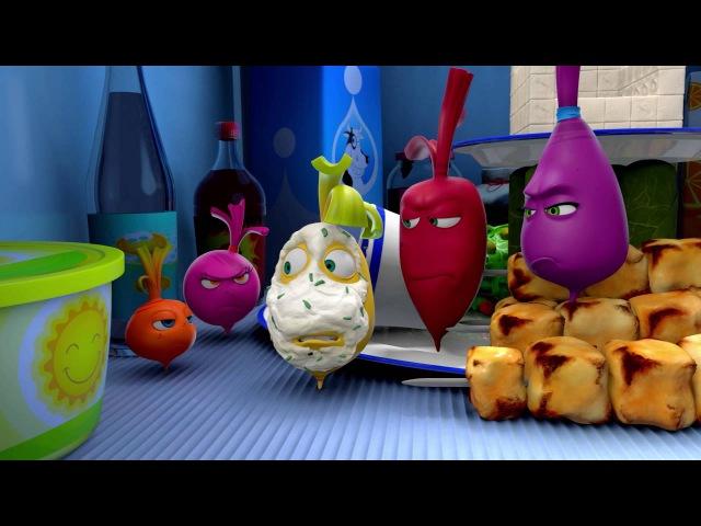 Прикольный мультик «Овощная вечеринка» - Падение с Олимпа 43 серия
