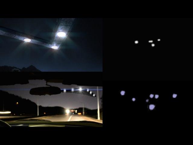 Загадочный треугольный НЛО, снятый ночью водителем машины во Флориде (7 Мая, 2016 г.)