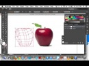 Adobe Illustrator: Using the mesh tool (Creating an apple)