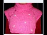 МАНИШКА СПИЦАМИ.САМЫЙ ПРОСТОЙ СПОСОБ(ДЕТСКАЯ МАНИШКА) для начинающих!Collar knitting
