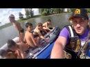 ПВХ лодка с надувным дном низкого давления Лоцман М 350 нднд. Эпизоды съемок видео обзора.