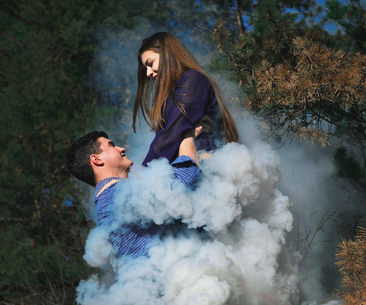 Фото в дыму пара