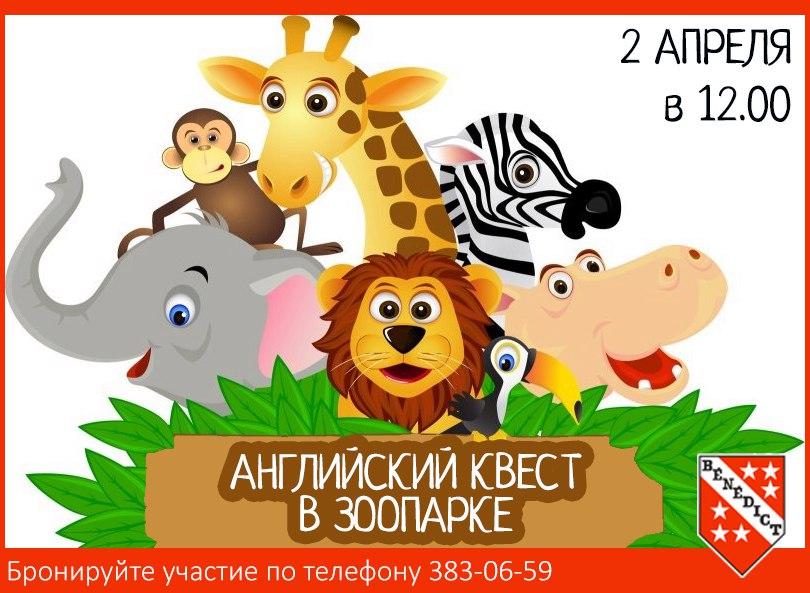 Английская экскурсия в зоопарке!